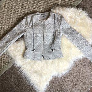 Zara Tweed Blazer Jacket Size Medium